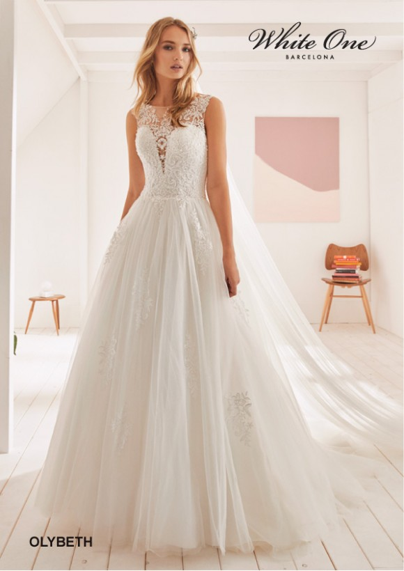 vestido novia white one modelo olybeth