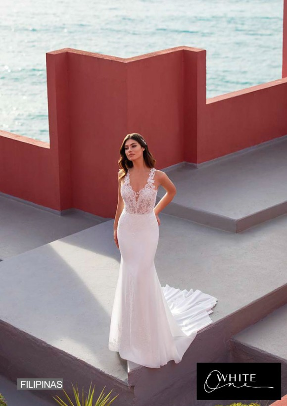 vestido novia White One modelo filipinas